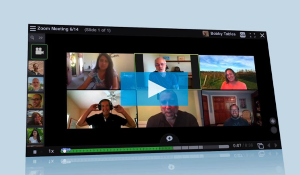Screenshot of a Zoom conversation between six people